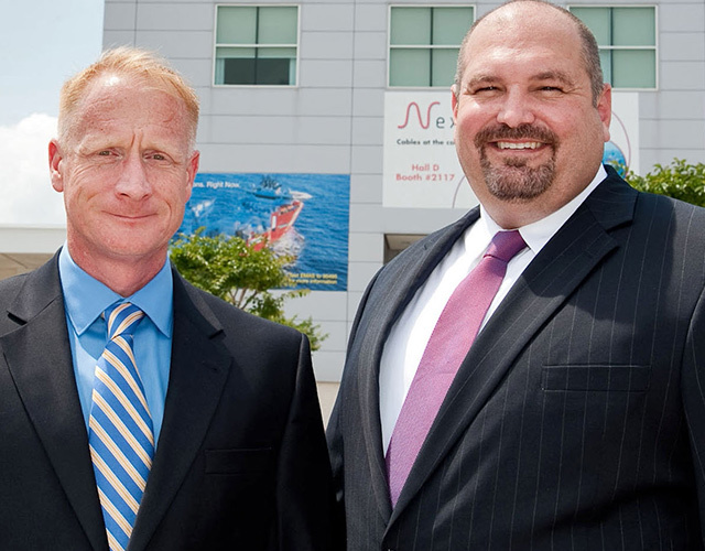 EnerMech's new Vice President Alan Sweeney (left) and President Vince Kouns who will head up the company's US operations.