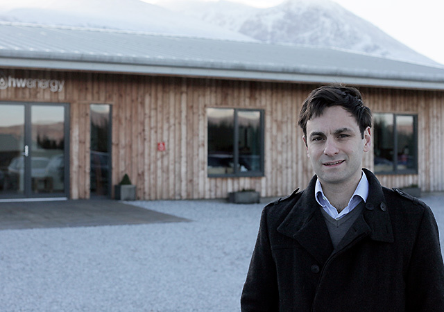 Bruno Berardelli, managing director of Fort William biomass specialist HWEnergy