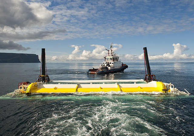 Oyster 800 being tested at EMEC