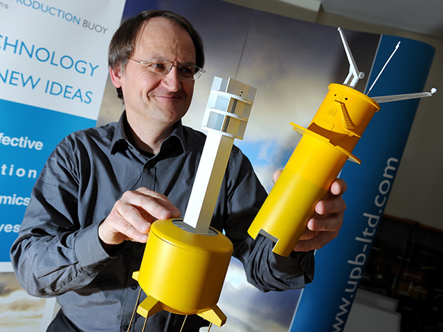 Unmanned Production Buyo Ltd founder, Richard Selwa, with a model of what has the potential to be a North Sea game-changer.