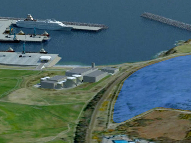 Artist's impression of the proposed Nigg Bay port