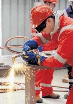 North Sea work force