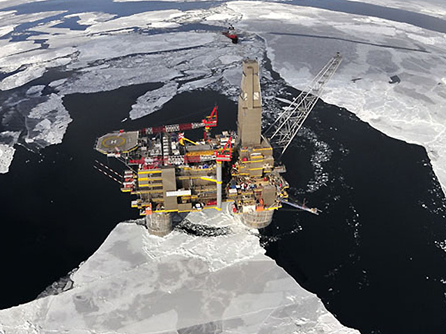 PREMIER POSITION: Sakhalin II, offshore platform, Russia, where LNG is produced in subarctic conditions