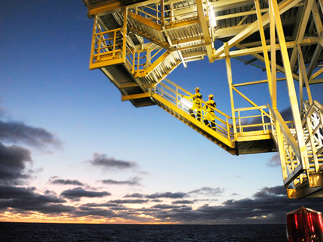 The Aker Barents drilling rig in the Barents Sea