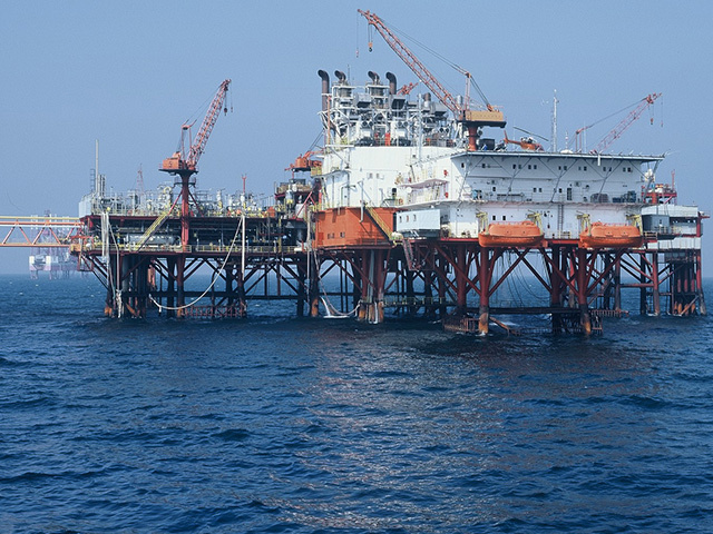 Petrom central production unit in the Black Sea