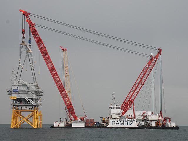 Offshore substation installed at West of Duddon Sands