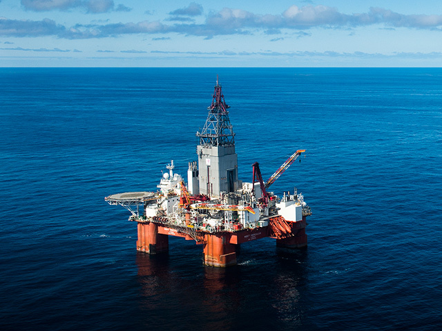 West Hercules drilling well number 100 at the Nunatak prospect in the Barents Sea. Picture: Ole Jørgen Bratland/ Statoil