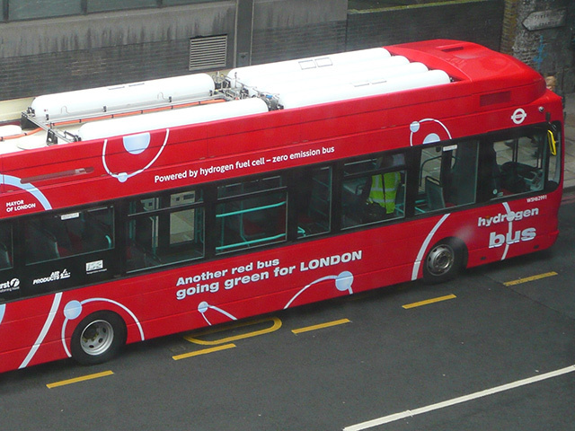 A hydrogen-powered London bus. Aberdeen is looking to be at the forefront of the move in Scotland.