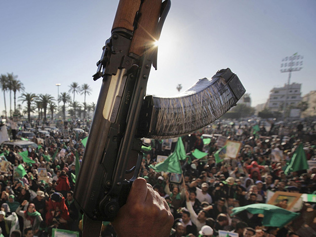Libyan protests in 2011.