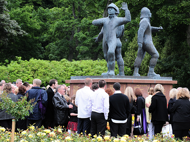 LEST WE FORGET: The Act of Remembrance Service at the Piper Alpha Memorial, Hazlehead Park, on the 20th anniversary, July 6, 2008