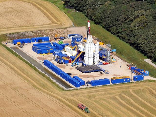 Cuadrilla Resource's Preese Hall drilling site near Blackpool.