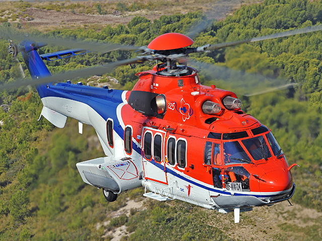 A Super Puma EC225 operated by CHC Scotia.