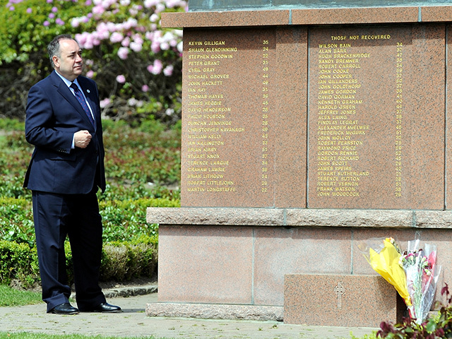 Alex Salmond at the Piper Alpha memorial