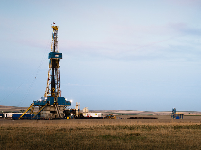 Tight oil production at Williston, North Dakota.