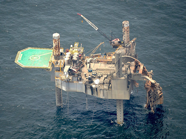 The Hercules 265 rig after the fire. Pic: On Wings of Care