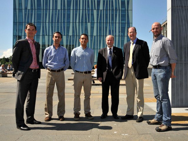 Members of the Colombian oil delegation are shown around Aberdeen