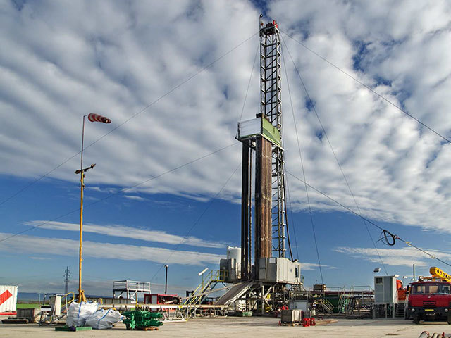 A rig used for gas  drilling operations