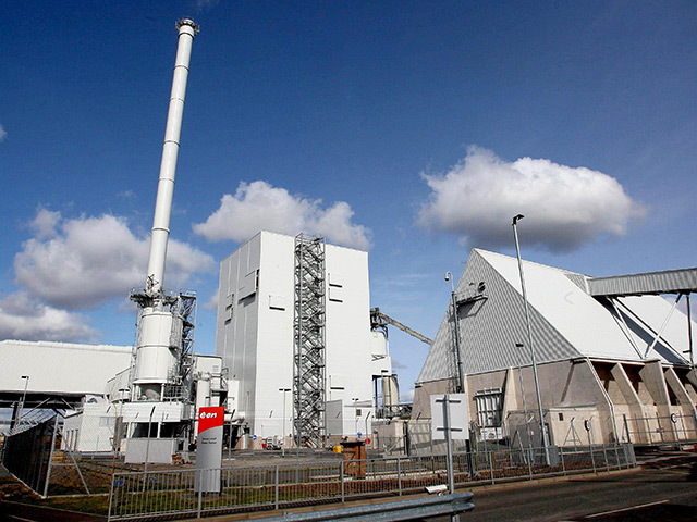 The Steven's Croft biomass power station at Lockerbie
