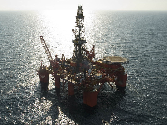 North Sea rig Bredford Dolphin