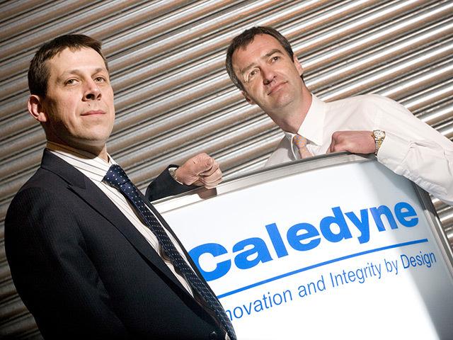 Clydesdale Bank's Robin Hewitt with Roland van Dort (r) in 2010.