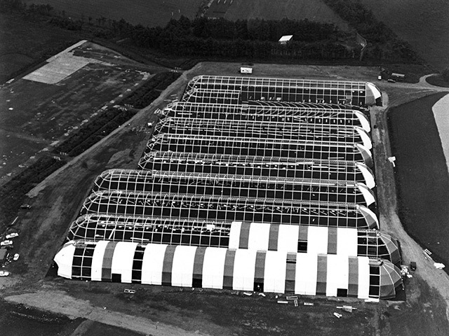 The Offshore Europe exhibition hall in 1977