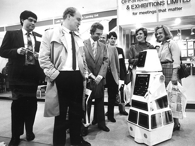 Robot Jeremy is revealed at Offshore Europe in 1985