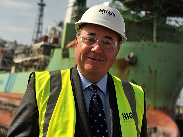First Minister Alex Salmond on a visit to Nigg Energy Park last month
