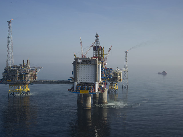 The Sleipner field in the North Sea where CO is stripped and pumped back below ground