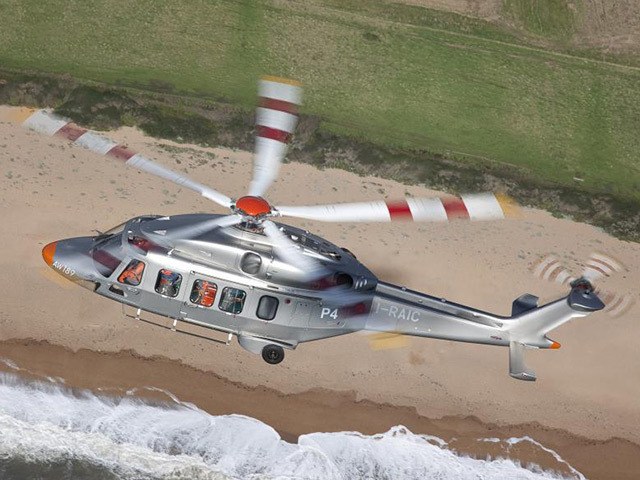 The AgustaWestland AW189 helictopter