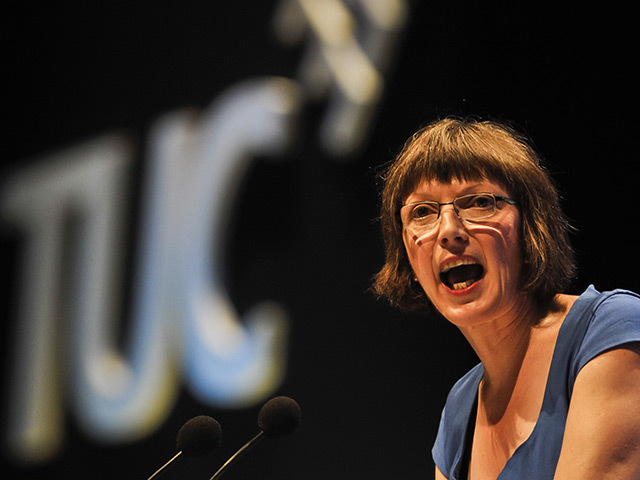 TUC general secretary Frances O'Grady at the conference