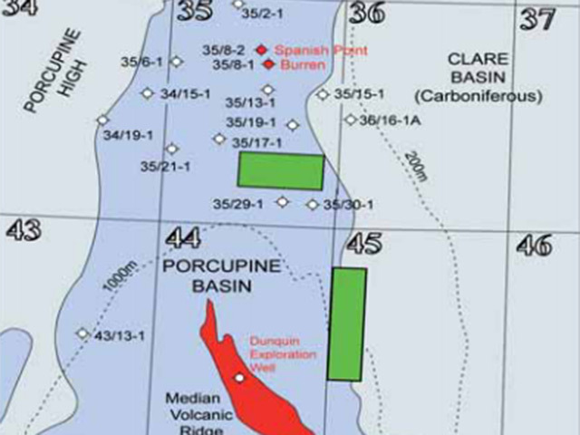 The Porcupine Basin sites
