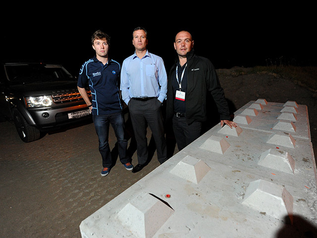 Stranded Offshore Europe 2013 delegates Angus MacLean, Andrew Dunn and John Walden.