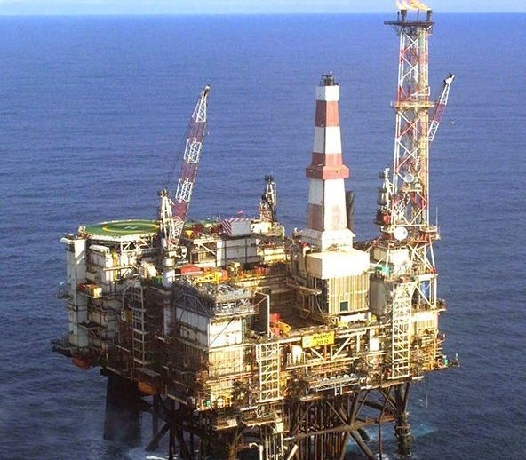 North Sea Magnus platform