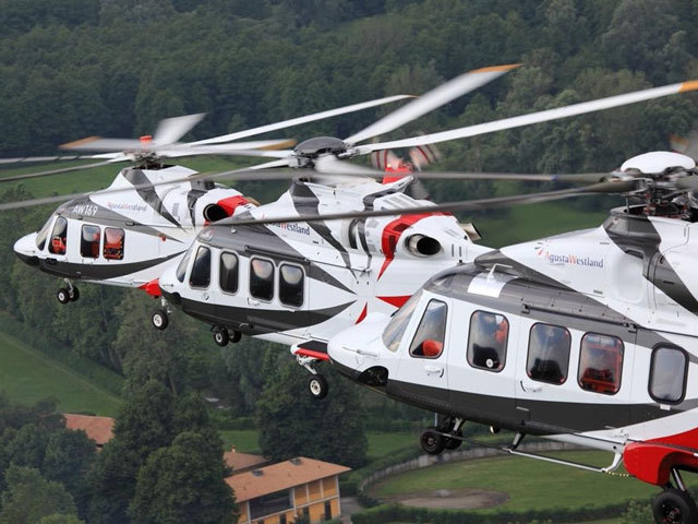 AgustaWestland AW189 helicopters