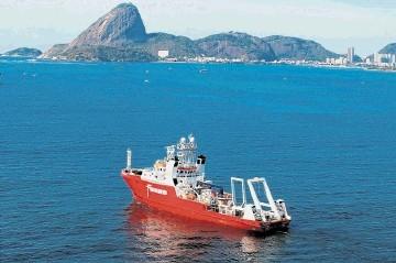 Survey vessel Fugro Brasilis off Rio de Janeiro