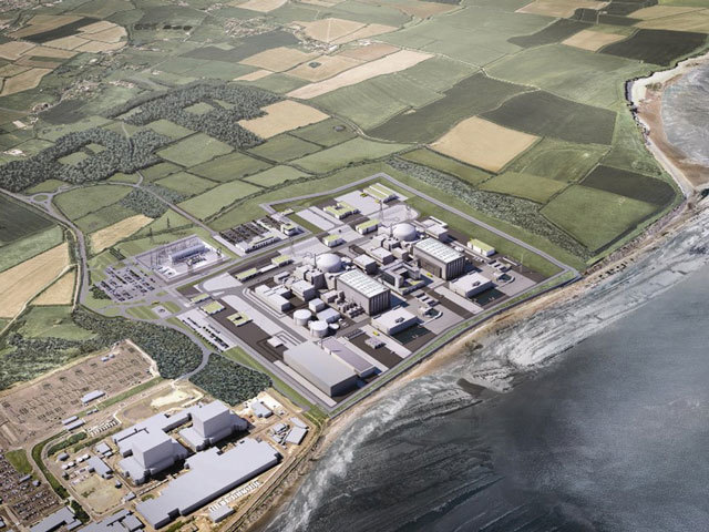 Computer generated image issued by EDF of the planned  Hinkley  Point C nuclear plant, agreed with the UK Government.
