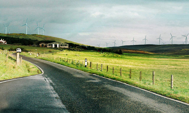An artist's impression from the developers of the planned Viking  Energy wind farm in Shetland.
