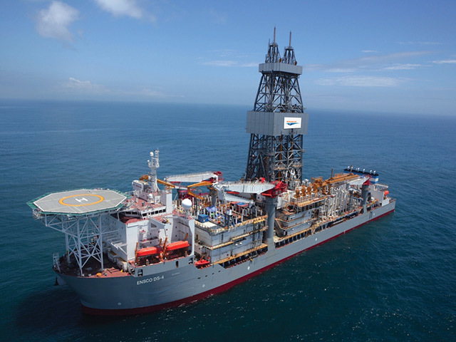Ensco's DS-4 super-drillship is a sister of the just completed DS-7