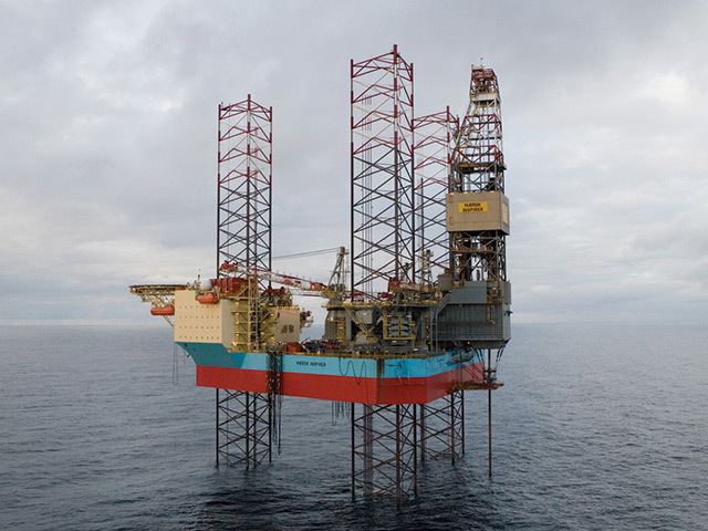 A Maersk  drilling rig