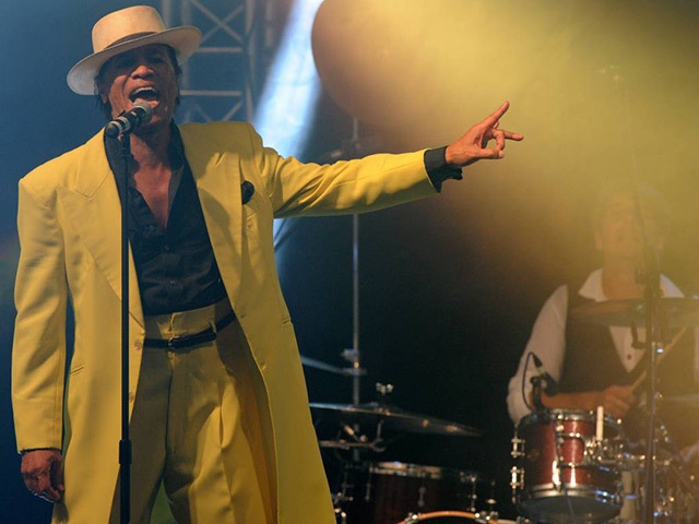 Kid Creole performs for the crowd at the 2013 Energy Ball
