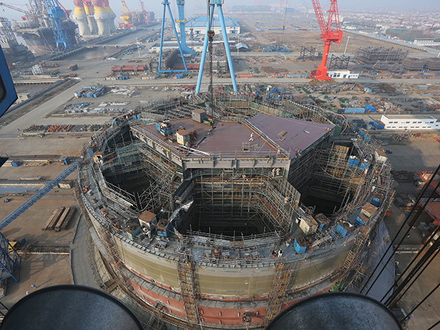 Dana Petroluem's Western Isles FPSO hull was successfully launched at the COSCO yard in Qidong, China