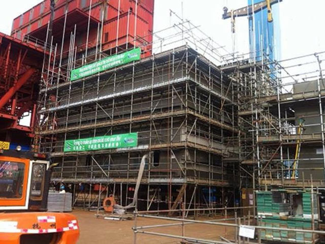O10 office block construction progress photo