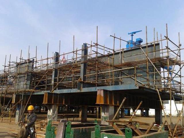 U40 - GTG Module deck frame fabrication progress photo