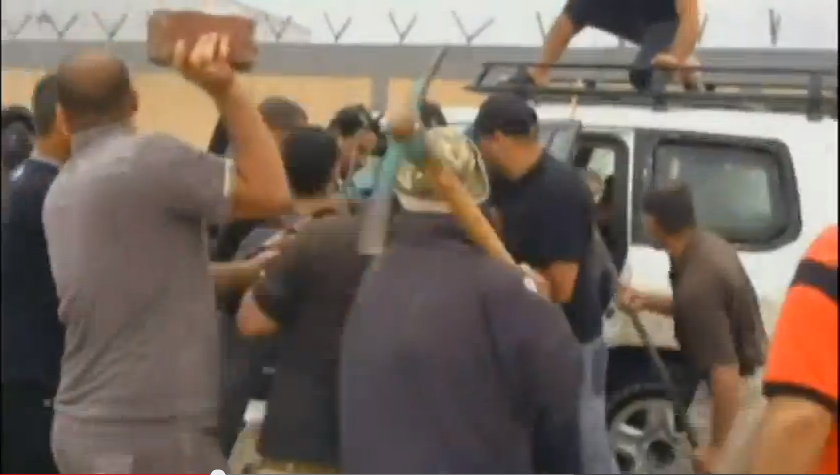 Angry Iraqis attack the G4S worker