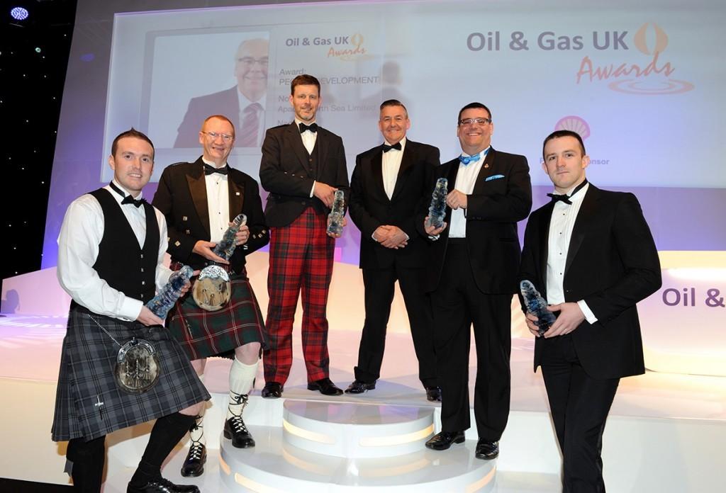 All the winners, including (2nd left) Bilfinger Salamis UK's Archie Crawford, winner of the Mentoring Award