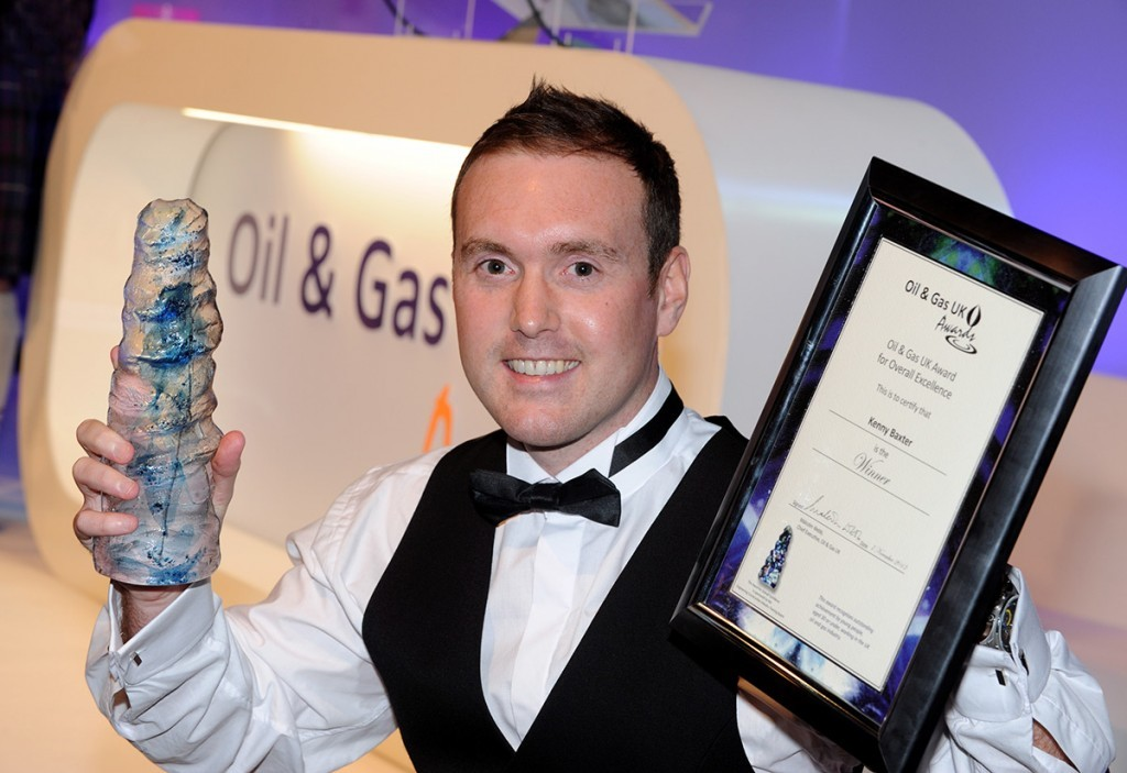 Kenny Baxter, winner of the Oil and Gas UK award for overall excellence