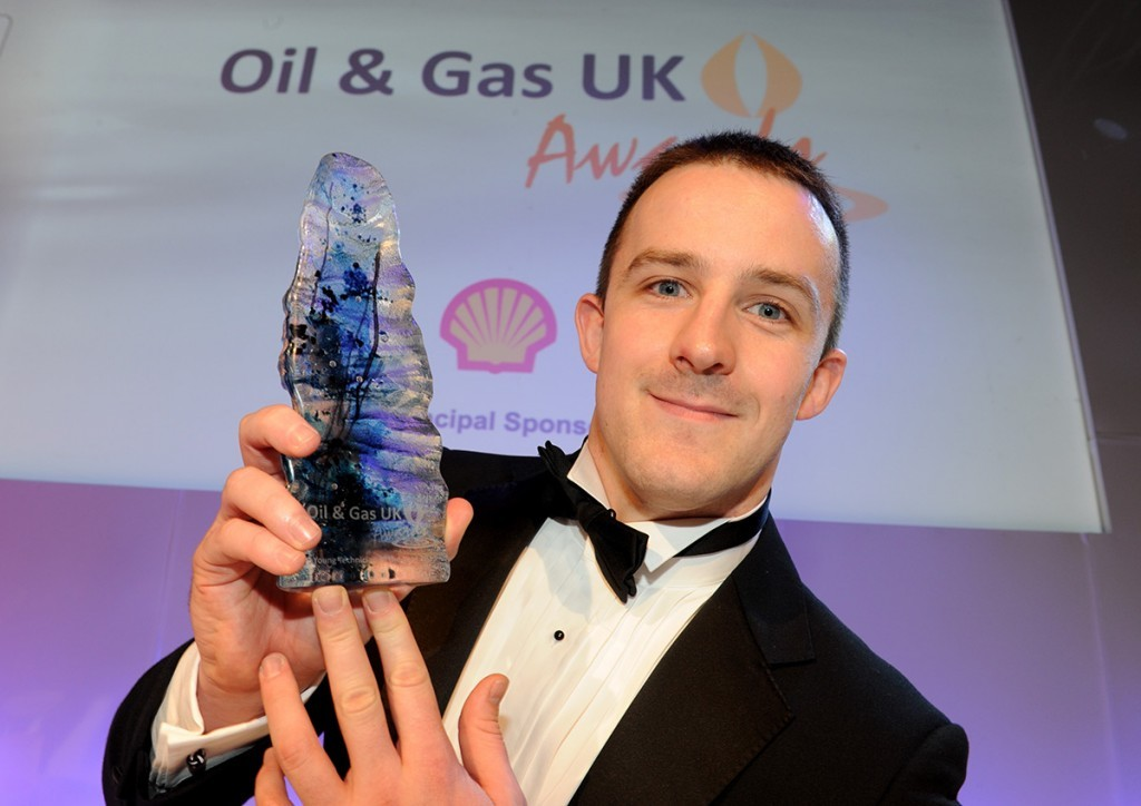 BG Group's James Gladden won Young Technician of the Year