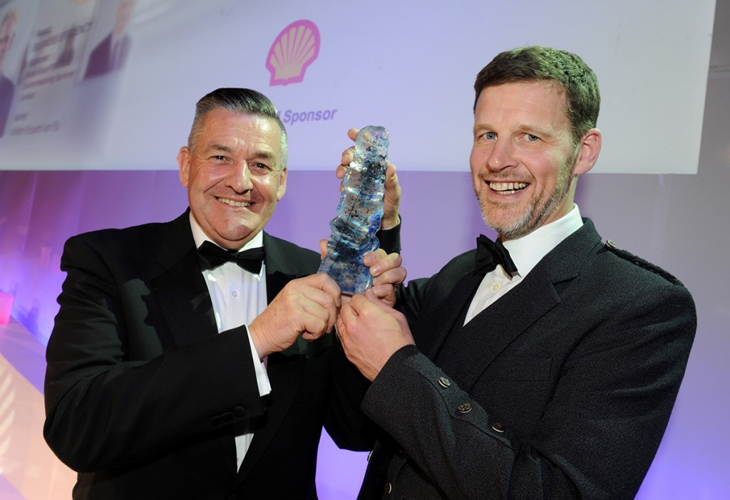 Graham Brooks and Neil Rogerson of the Apache/OGN project team, winners of the Business Efficiency Award