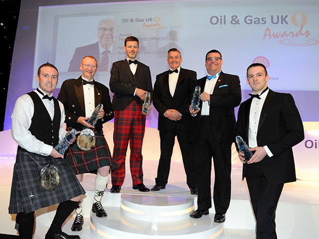 The winners at the 2013 Oil and Gas UK Awards