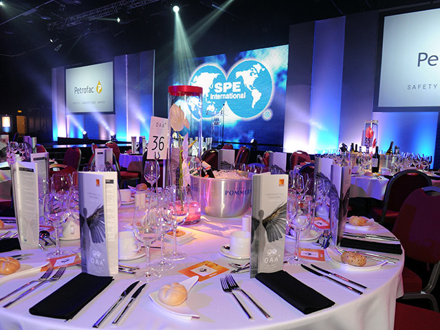 Tables at the 2013 Offshore Achievement Awards